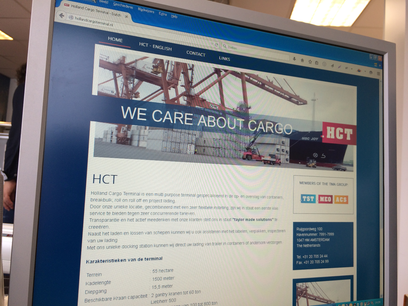 Website Holland Cargo Terminal