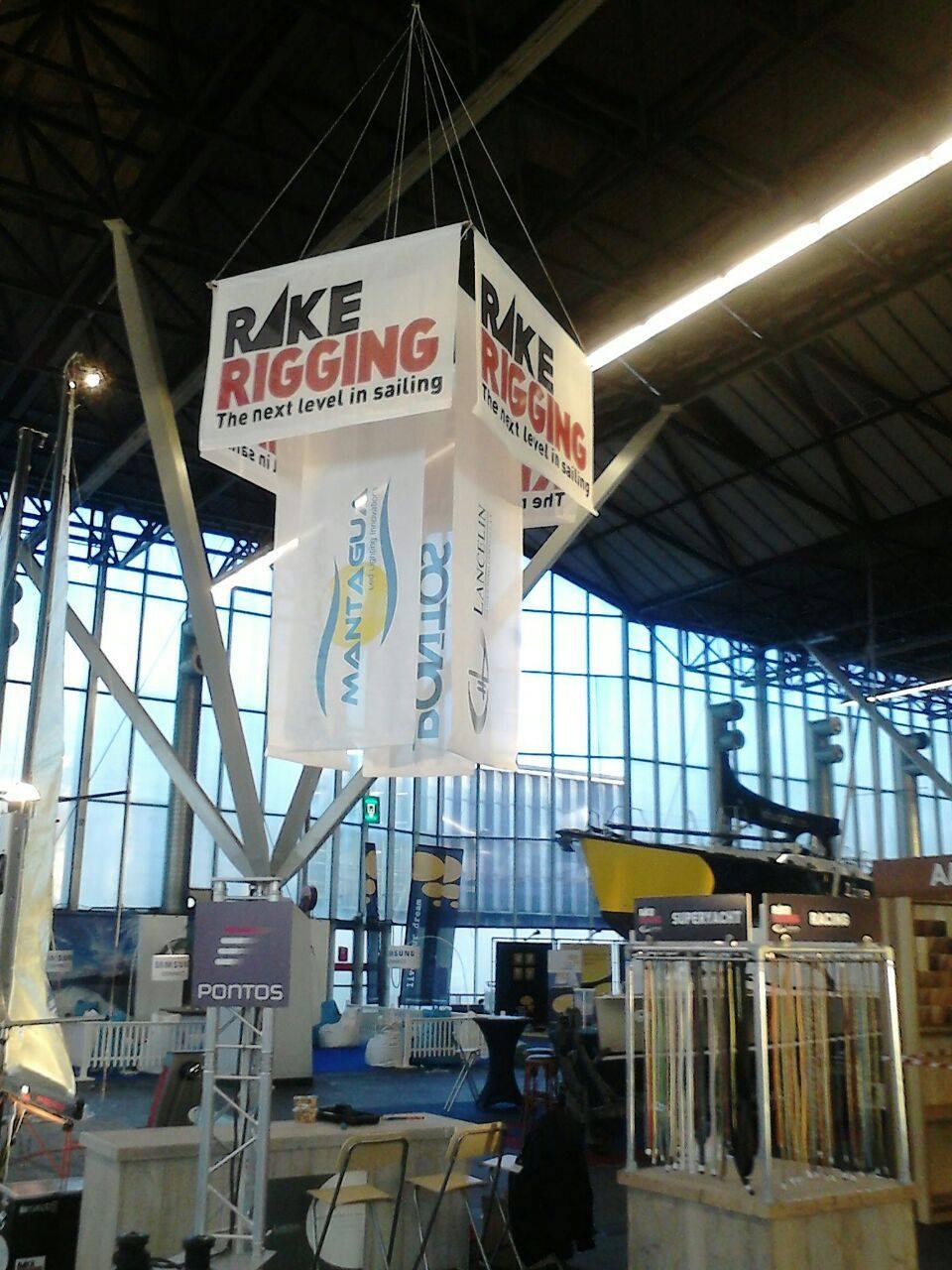 PC Reclame - vlaggen Rake Rigging