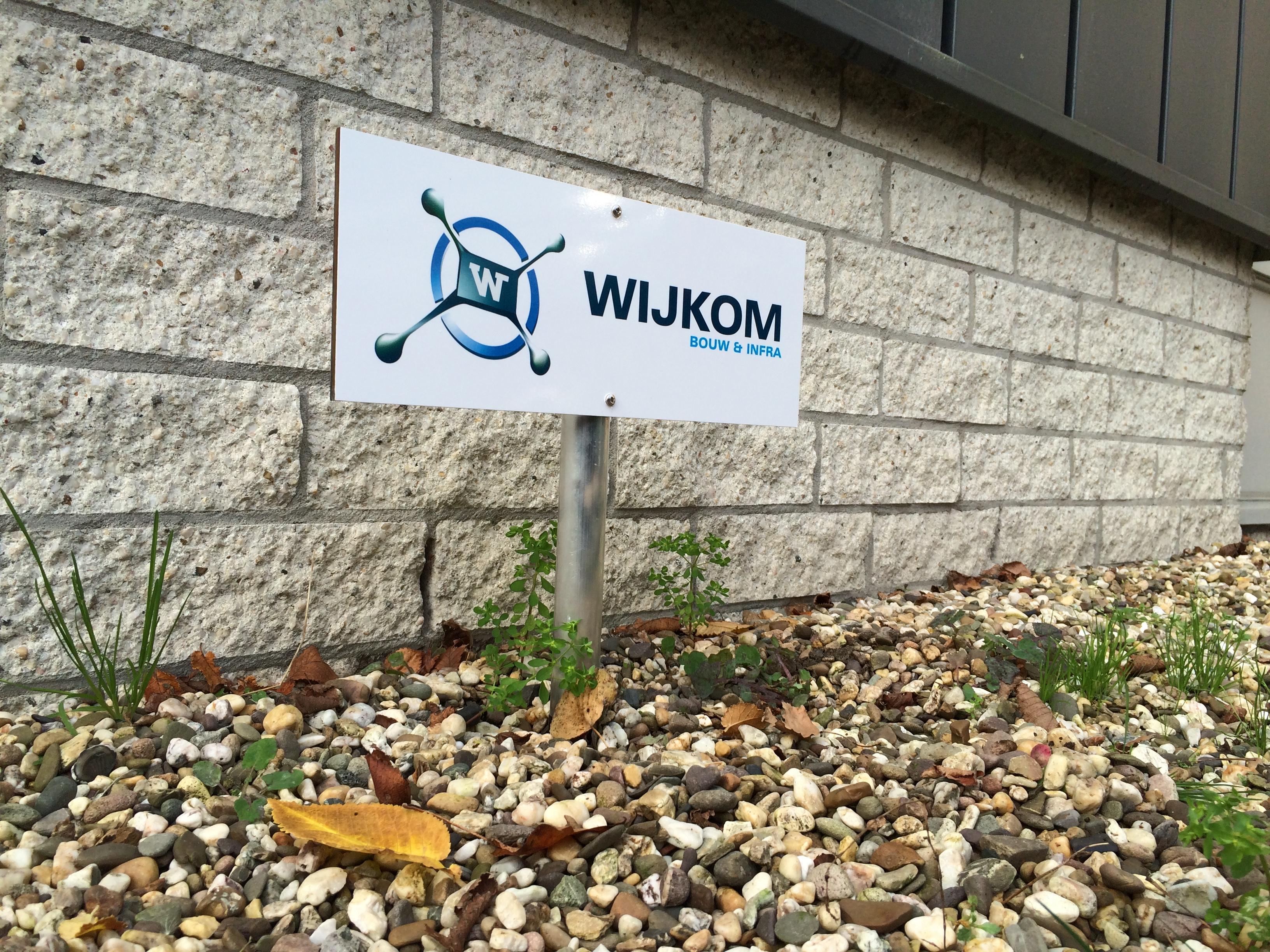 Wijkom Bouw en Infra - Parkeerbordje