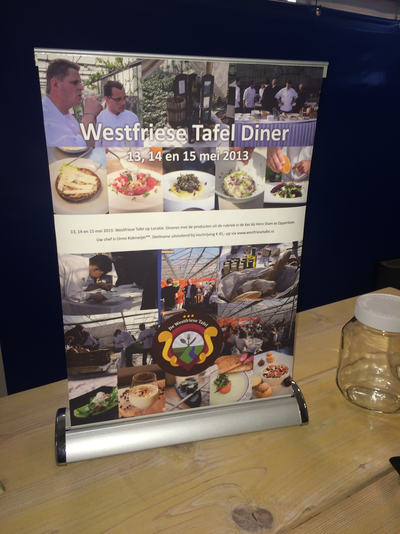 Roll up banner - Tafel formaat