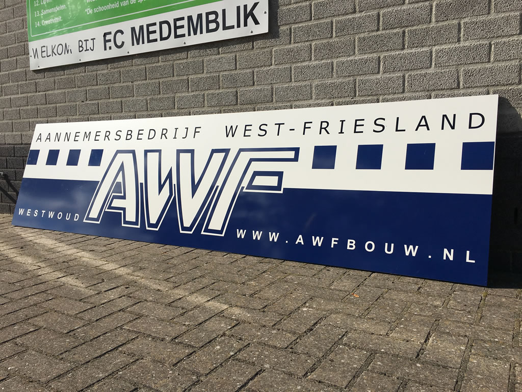 FC Medemblik sponsorbord - awf