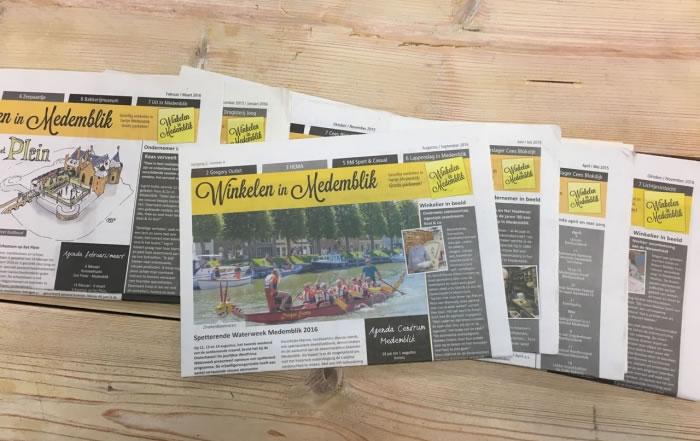 PC Reclame - Winkelen in Medemblik krant augustus - september