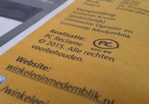 Winkelen in Medemblik. PC Reclame brengt het drukproces in beeld.