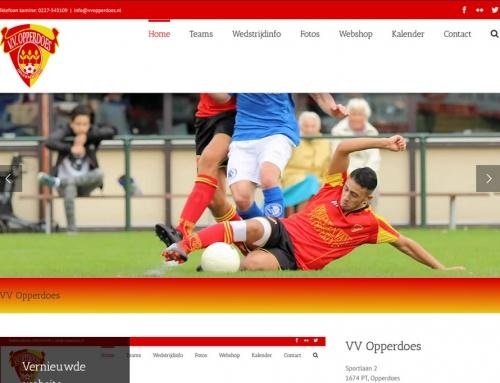 Website VV Opperdoes door samenwerking goed en betaalbaar