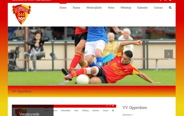 PC Reclame - Website VV Opperdoes