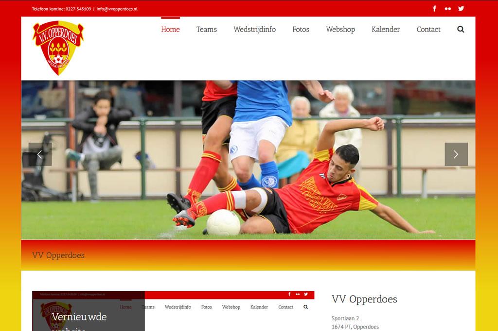 PC Reclame - Website VV Opperdoes