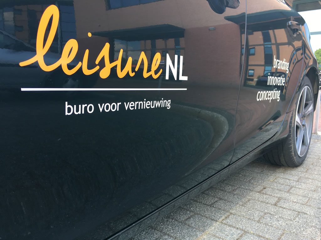 PC Reclame - LeisureNL auto belettering