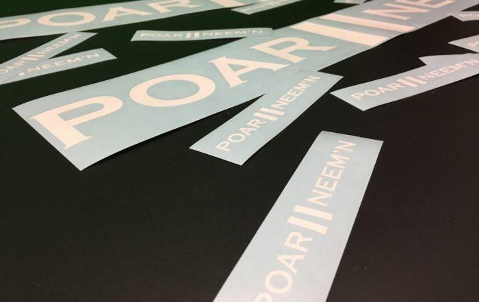 PC Reclame - losse stickers - Poar neem 'n