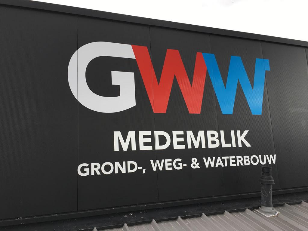 PC Reclame - Gevel belettering - GWW Medemblik