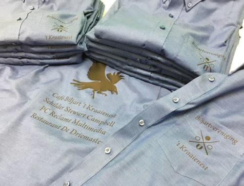 Biljartvereniging 't Kraaienest voorzien van stijlvolle overhemden