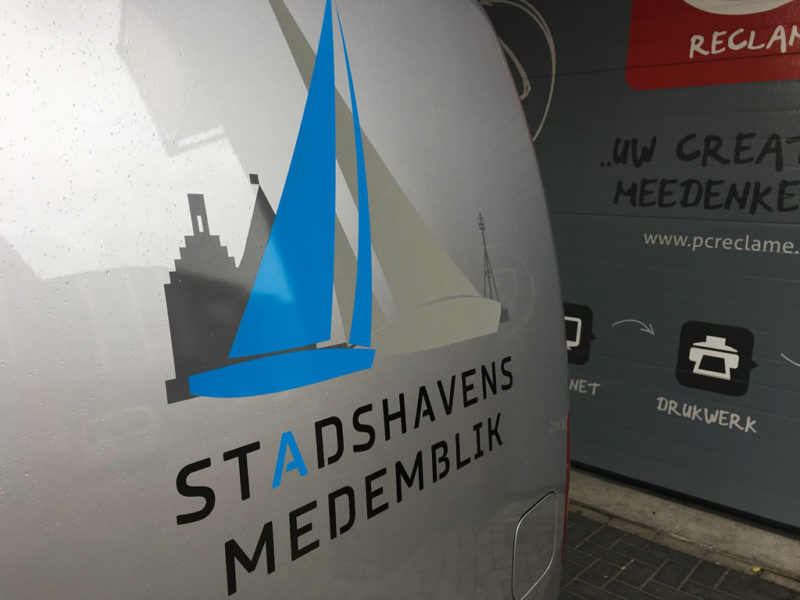 PC Reclame - Belettering Stadshavens auto