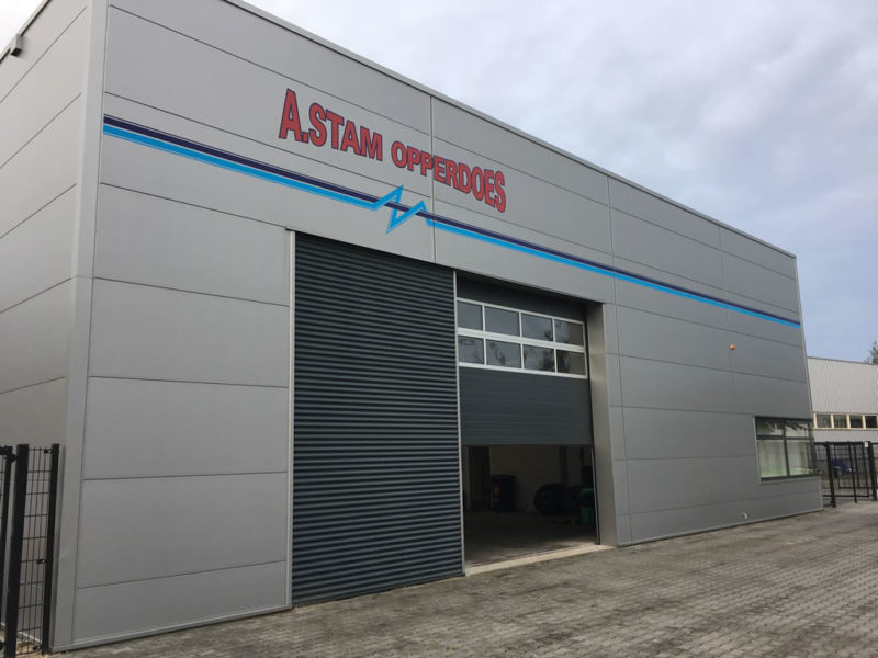 Gevelbelettering transportbedrijf A. Stam Opperdoes