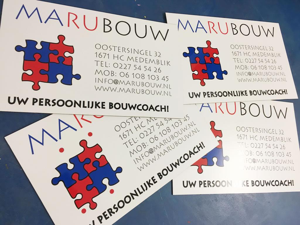 Kleine bordjes Marubouw