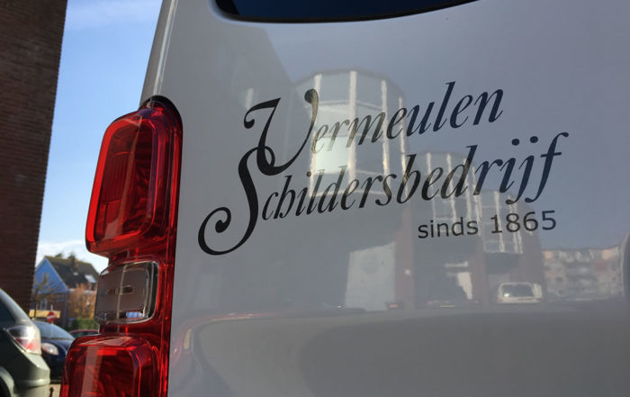 Bus belettering Schildersbedrijf Vermeulen