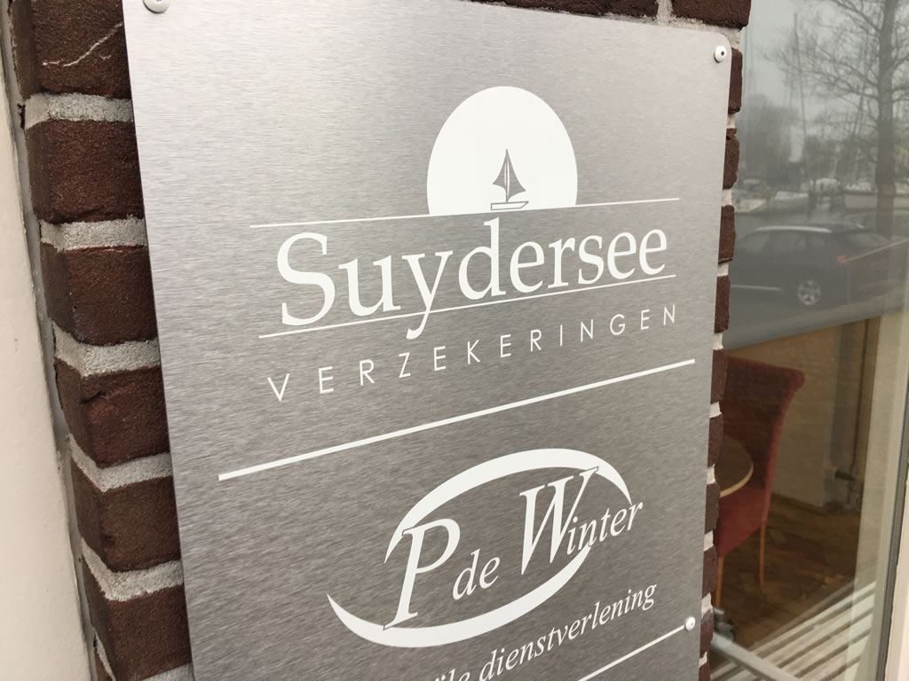 Suydersee Verzekeringen - gevelbord belettering