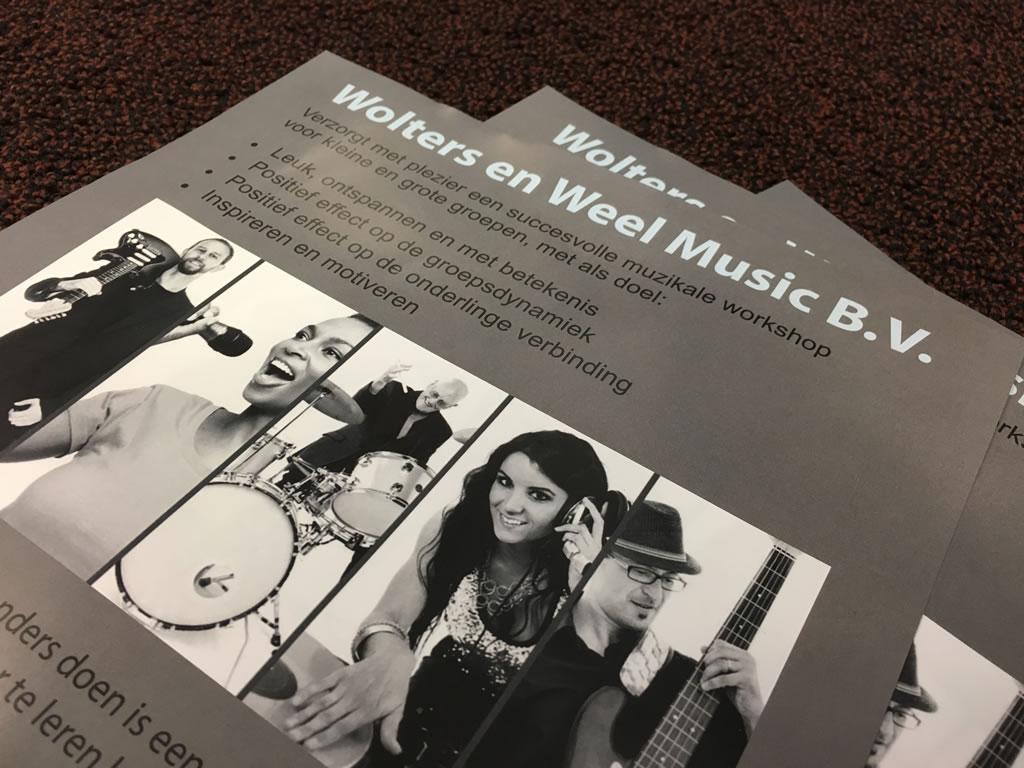 Flyers Wolter en Weel Music B.V.