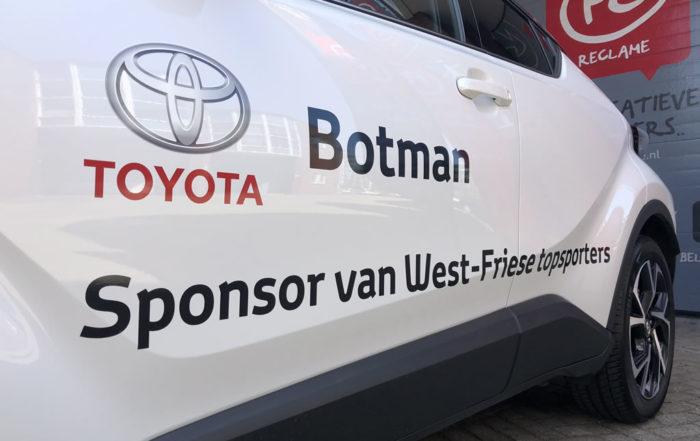 Toyota Botman - CHR Irene Schouten voorzien van vinyl.