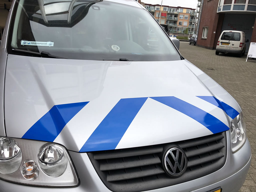Stadshavens Medemblik - Striping op VW Caddy